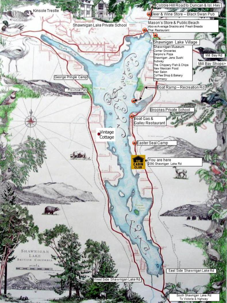 Shawnigan Lake Features Map